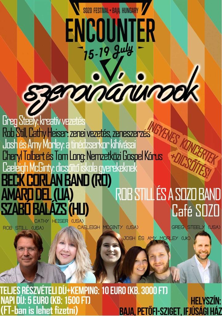 SOZO Festival 2015 Baja, Hungary Poster