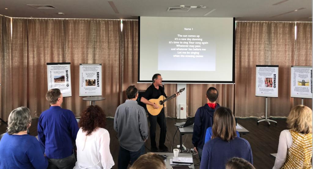 SIM Leading worship
